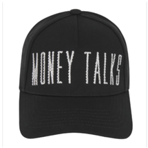 MONEY TALKS II CAP BLACK X SWAROVSKI