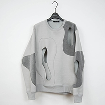 PERFORATION CREWNECK  SWEAT SHIRT