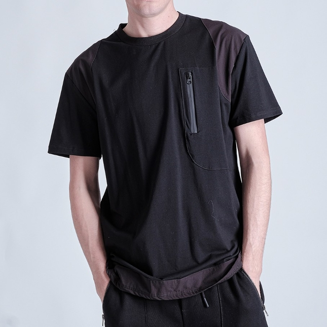 AMJ20303-TAGGING POCKET TEE