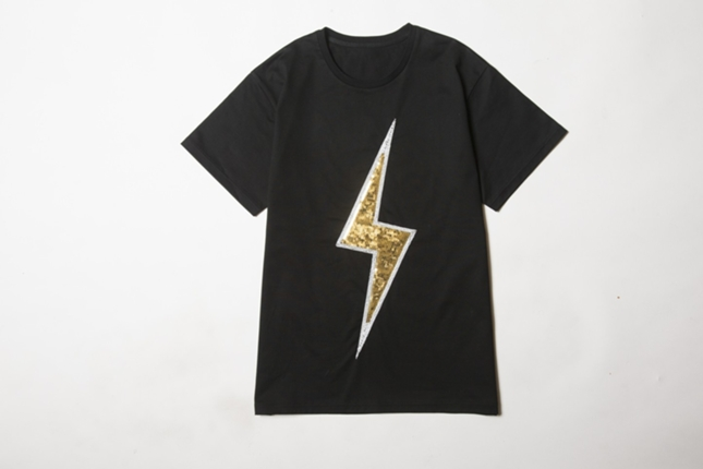 LIGHTNING BOLT EMBROIED T