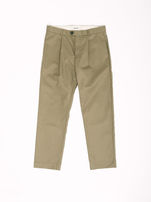 WICK TROUSER IN KHAKI RECYCLED ORGANIC COTTON